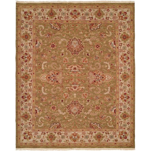 Wildon Home ® Soumak Green / Ivory Rug