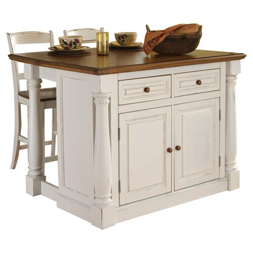 Home Styles Monarch 3 Piece Kitchen Island Set u0026 Reviews : Wayfair