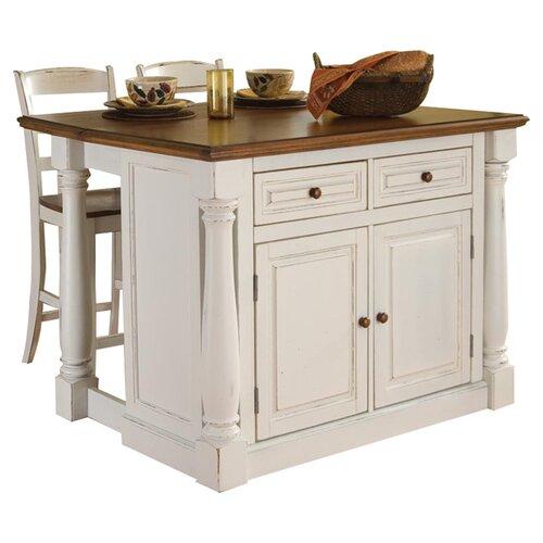 home styles monarch 3 piece kitchen island set amp reviews