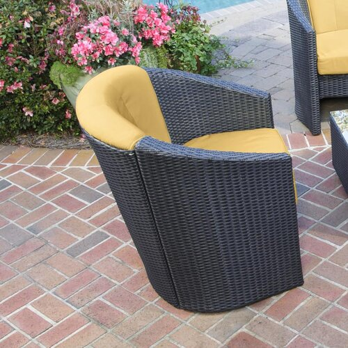 Home Styles Riviera Barrel Accent Deep Seating Chair