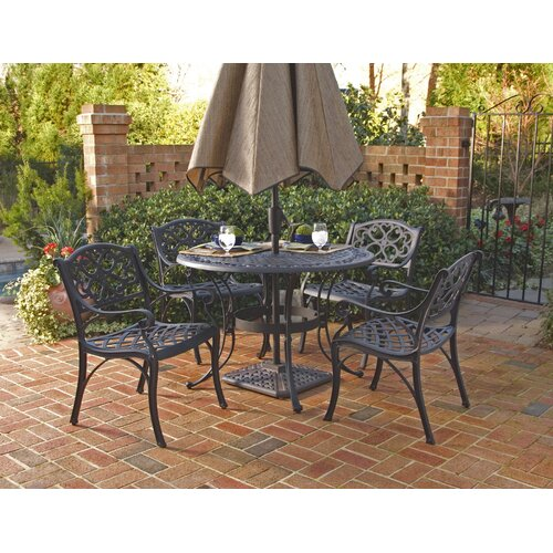 Home Styles 5 Piece Outdoor Dining Set Iii Reviews Wayfair