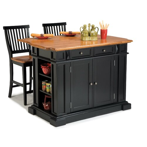 Home Styles 3 Piece Kitchen Island Set amp Reviews Wayfair