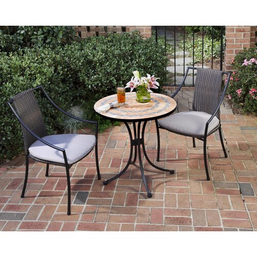 Terra Cotta 3 Piece Dining Set with Cushions