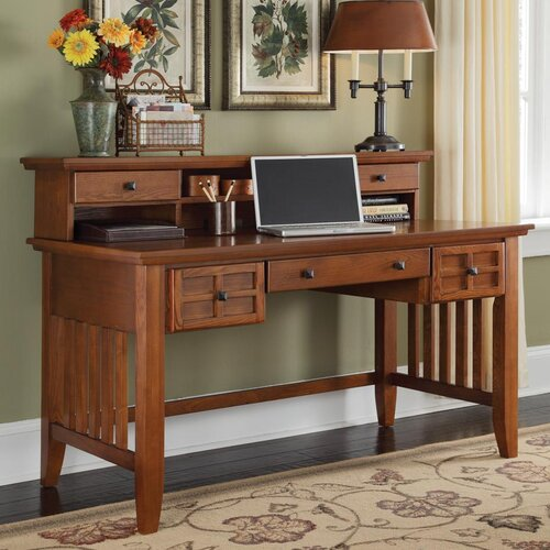 Home Styles Arts and Crafts Executive Writing Desk and Hutch