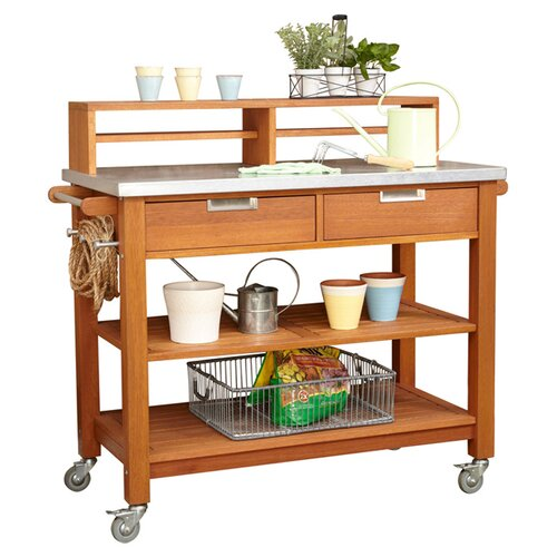 Home Styles Bali Hai Wood Potting Bench
