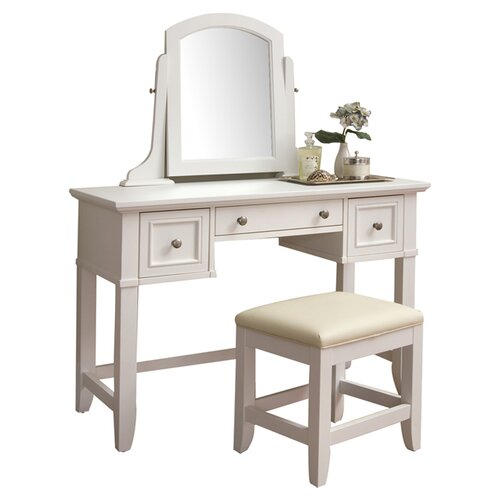 Home Styles Naples Vanity Set with Mirror