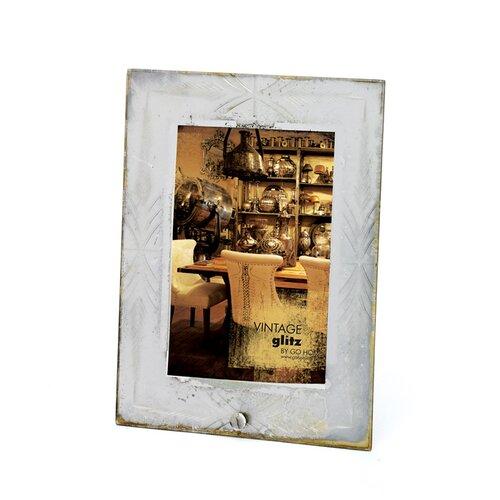 Etched Antiqued Photo Frame
