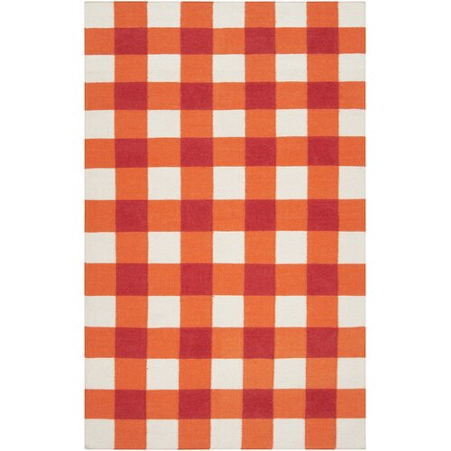 Country Living™ by Surya Happy Cottage Orange-Red / White Rug