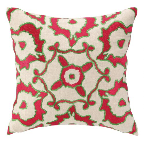 Vintage Ikat Embroidered Decorative Pillow