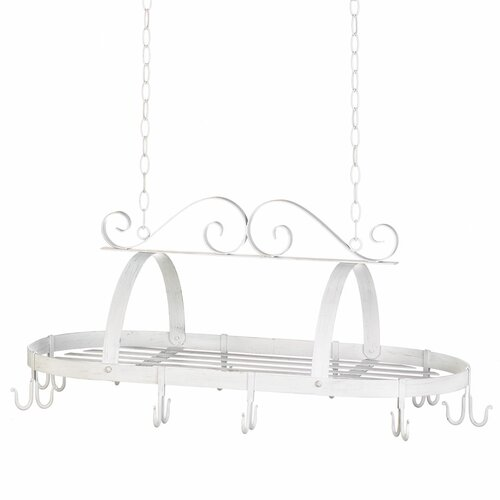 White Hanging Cookware Holder