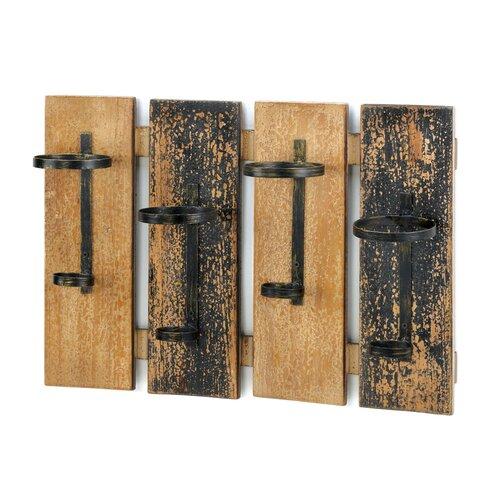 4 Bottle Planks Wine Rack