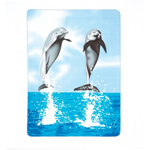 Dancing Dolphins Polyester Fleece Throw