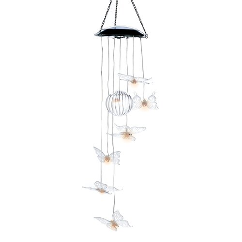 Solar Glow Butterfly Mobile Wind Chime
