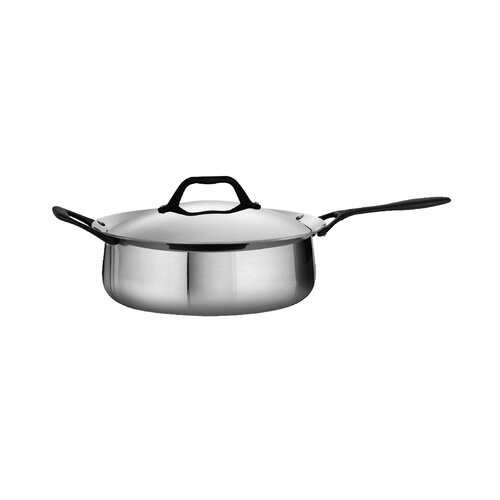 Tramontina Limited Edition Butterfly Stainless Steel Deep Saute Pan with Lid
