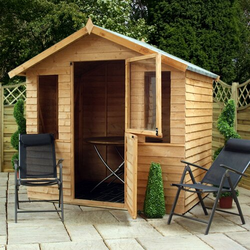 7.5ft W X 7.5ft D Wooden Summerhouse/Log Cabin Shed