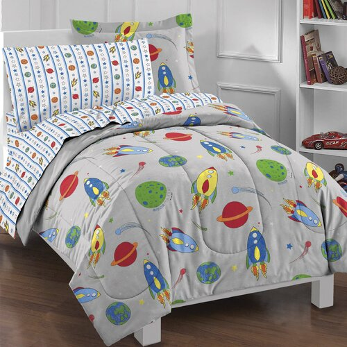 Space Rocket 5 Piece Bed Set
