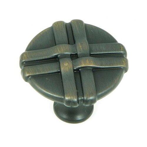 "Stone Mill Hardware Weave 1.38"" Round Knob"