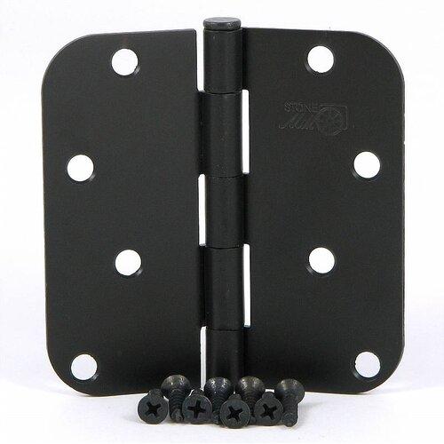 Stone Mill Hardware 4'' H x 4'' W Radius Corner Door Hinge