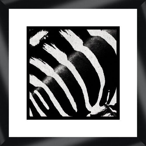 Zebra I Framed Graphic Art