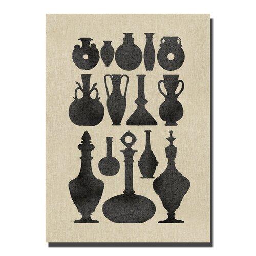 Vases II Graphic Art on Canvas