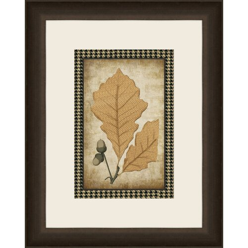 Houndstooth Leaves II Framed Graphic Art