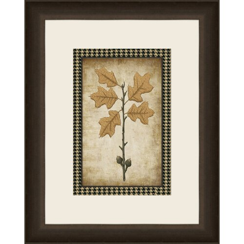 Houndstooth Leaves V Framed Graphic Art