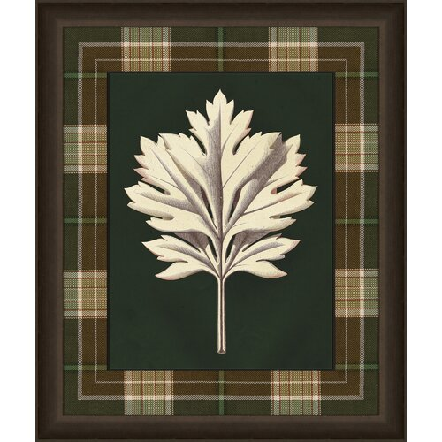 Leaves in Plaid III Wall Art