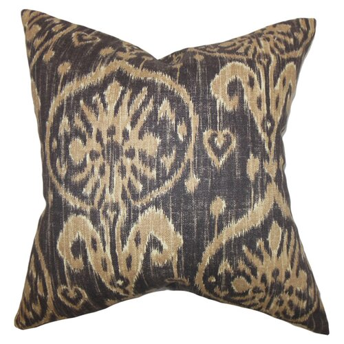 The Pillow Collection Yetta Ikat Cotton Pillow