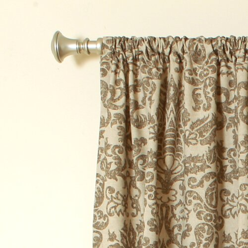The Pillow Collection Netherlands Kelp Linen Rod Pocket Curtain