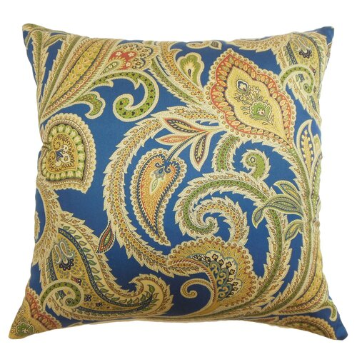 Ebadon Paisley Cotton Pillow