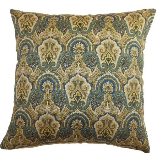 Atlantic Paisley Cotton Pillow