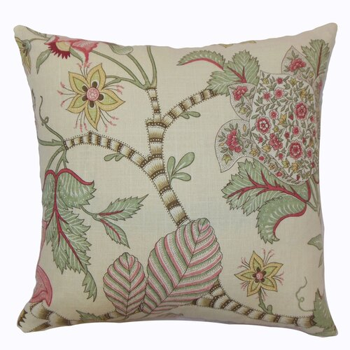 Elodie Floral Cotton Pillow