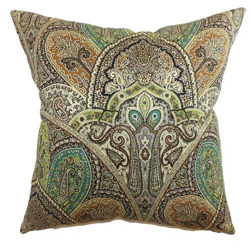 The Pillow Collection La Ceiba Paisley Cotton Pillow