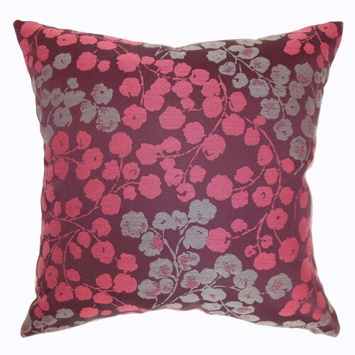 The Pillow Collection Fleur Floral Polyester Pillow