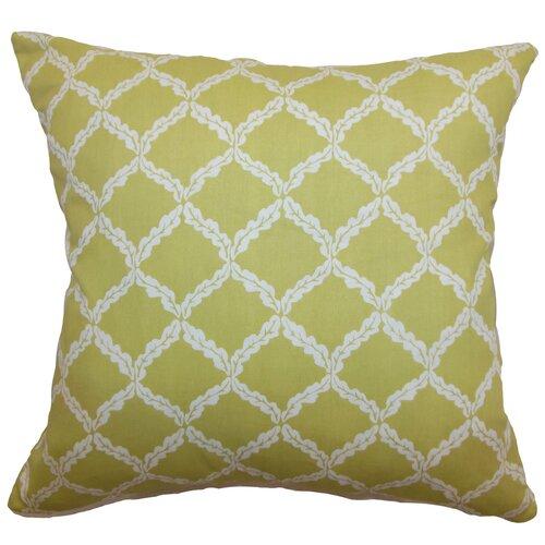 The Pillow Collection Quelah Floral Cotton Pillow