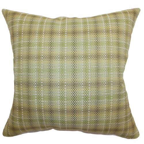 The Pillow Collection Adelasia Plaid Cotton Pillow
