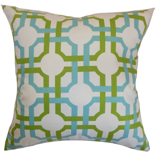 The Pillow Collection Aebba Tile Cotton Pillow