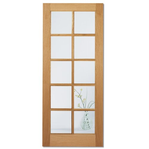 lpd doors sa 10 oak panel clear glazed interior door