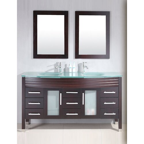 Plumbing Modern 63quot; Double Bathroom Vanity Set amp; Reviews  Wayfair