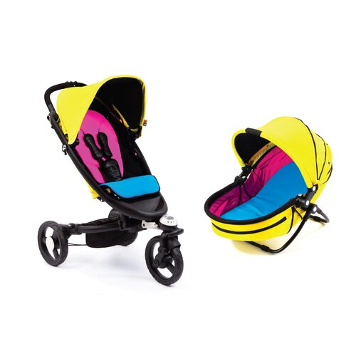 bloom Zen Stroller and Yoga Newborn Nest Combo Set