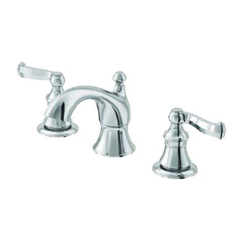 Scroll Double Handle Widespread Bathroom Faucet