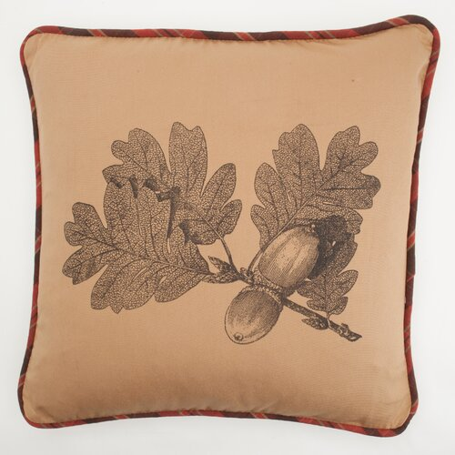 Provence Home Collection Large Oak Leaf Pillow