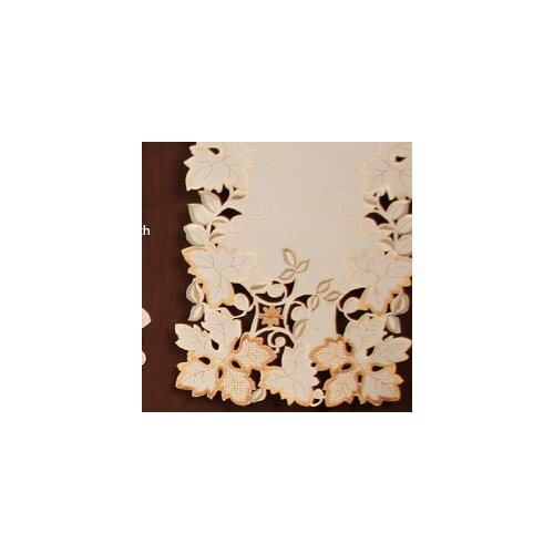 Autumn Forest Cutwork Embroidered Table Runner