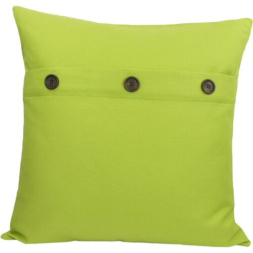 Xia Home Fashions Solid Color with Buttons Feather Fill Pillow