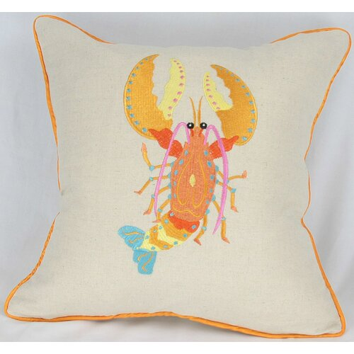 Manor Luxe Archipelago Lobster Cotton Pillow