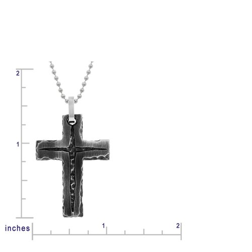 GoldnRox Stainless Steel Sea Cave Cross Pendant