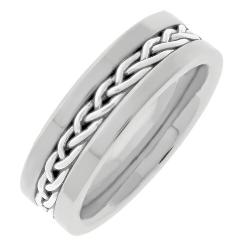 GoldnRox Men's Silver Plated Stainless Steel Link Band