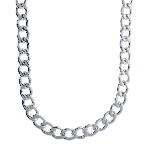 GoldnRox Stainless Steel Thick Curb Chain Necklace