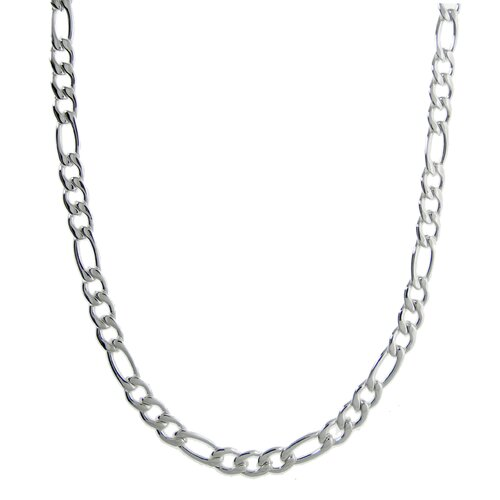 GoldnRox Stainless Steel Figaro Chain Necklace