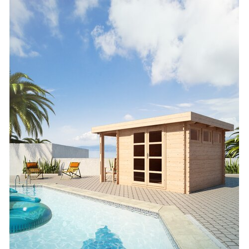 SolidBuild Moderna 13 Ft. W x 10 Ft. D Solid Wood Pool House and Garden Shed